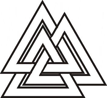 1 вариант начертания символа Валькнут