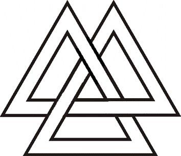 2 вариант начертания символа Валькнут