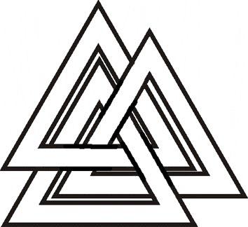 3 вариант начертания символа Валькнут